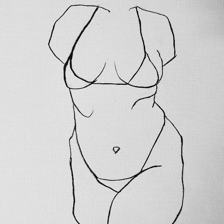 (CreativeWork) Figure bikini  by Jasmine Radakovic. Drawings. Shop online at Bluethumb.