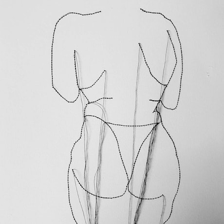 (CreativeWork) Figure from behind  by Jasmine Radakovic. Drawings. Shop online at Bluethumb.