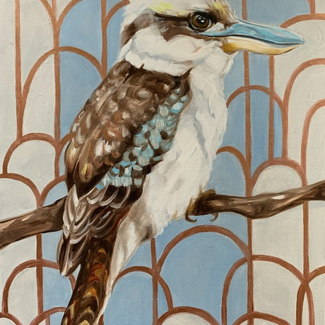 (CreativeWork) Kookaburra Cathedral - 1 by Alicia Cornwell. Oil Paint. Shop online at Bluethumb.
