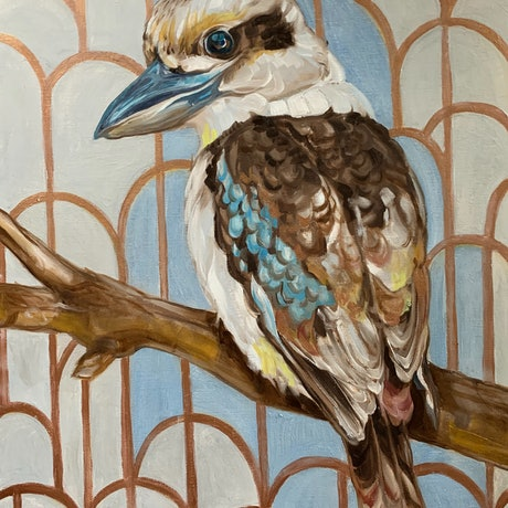 (CreativeWork) Kookaburra Cathedral - 2 by Alicia Cornwell. Oil Paint. Shop online at Bluethumb.