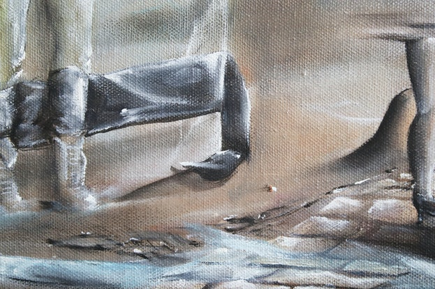 (CreativeWork) Solid Choice by Vanessa Stefanova. Oil Paint. Shop online at Bluethumb.
