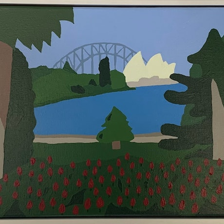 (CreativeWork) Your Happy Place  by Luke Mannion. Acrylic Paint. Shop online at Bluethumb.