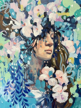 (CreativeWork) Breathe In by Clair Bremner. Oil. Shop online at Bluethumb.