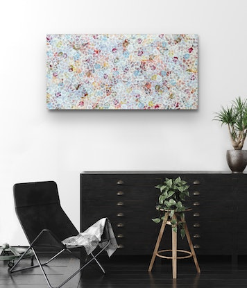 (CreativeWork) Bio Bloom Reef Flourish III – Large Original Abstract Painting by Jacquelyn Stephens. Acrylic Paint. Shop online at Bluethumb.