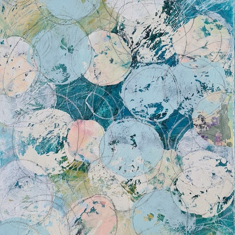 (CreativeWork) Round and round  by karen lavender. Mixed Media. Shop online at Bluethumb.