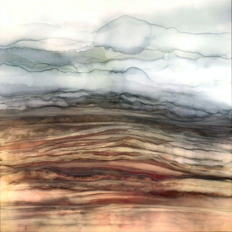 (CreativeWork) Outback and Beyond II by Martine Vanderspuy. Mixed Media. Shop online at Bluethumb.