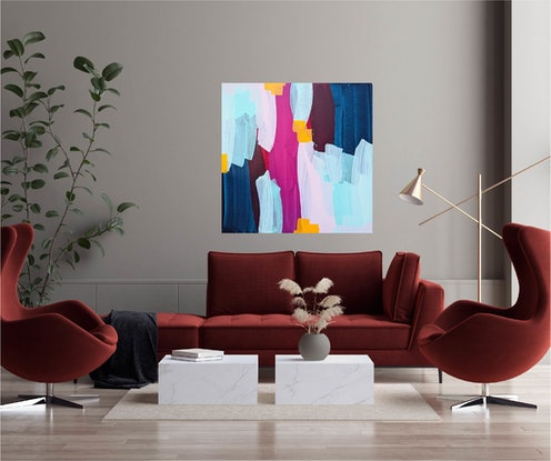 (CreativeWork) Somebody That I Used To Know by Maggi McDonald. Acrylic Paint. Shop online at Bluethumb.