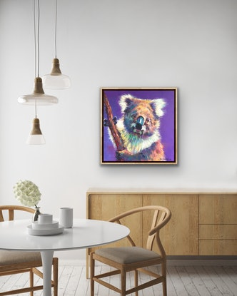(CreativeWork) Koala 19 by Jos Coufreur. Acrylic Paint. Shop online at Bluethumb.