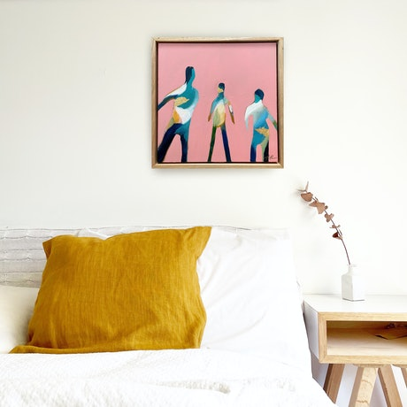 (CreativeWork) On The Field by Marnie McKnight. Acrylic Paint. Shop online at Bluethumb.