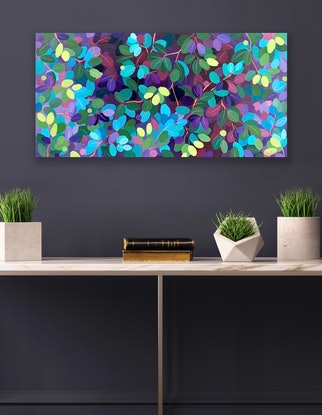 (CreativeWork) Beneath the Canopy  by Eve Sellars. Acrylic Paint. Shop online at Bluethumb.