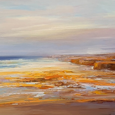 (CreativeWork) Visit Victoria - Port Campbell No 2 by Liliana Gigovic. Oil Paint. Shop online at Bluethumb.