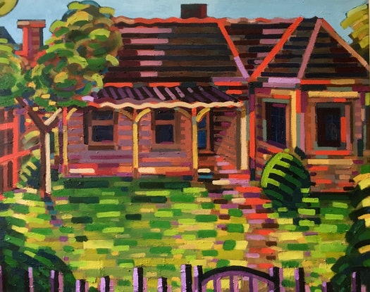 (CreativeWork) Canterbury by D.M. Ross. Oil Paint. Shop online at Bluethumb.
