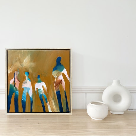 (CreativeWork) Lads by Marnie McKnight. Acrylic Paint. Shop online at Bluethumb.