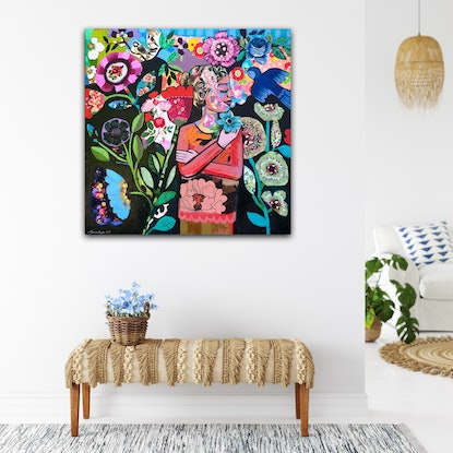 (CreativeWork) Walk in the Garden  by Sandra Oost. Mixed Media. Shop online at Bluethumb.