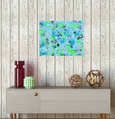 (CreativeWork) Life's Flow (Abstract)   by Linda Callaghan. Acrylic Paint. Shop online at Bluethumb.