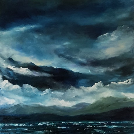 (CreativeWork) Above me only sky by Georgina Richmond. Oil Paint. Shop online at Bluethumb.