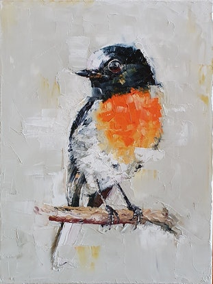 (CreativeWork) Another bird by Tim Holiday. Oil Paint. Shop online at Bluethumb.