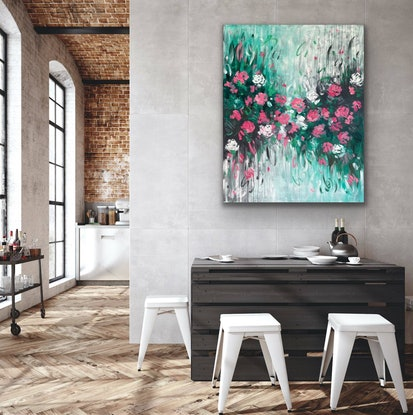 (CreativeWork) It's Forever by Belinda Nadwie. Oil Paint. Shop online at Bluethumb.