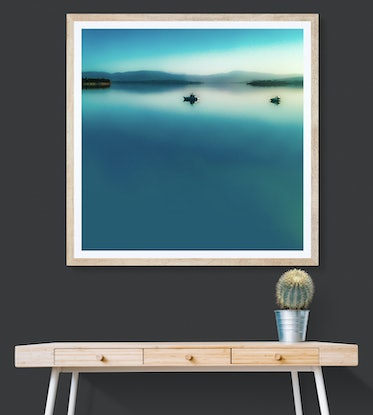 (CreativeWork) Stillwater Blue Ed. 1 of 100 by Lana Nelson. Print. Shop online at Bluethumb.