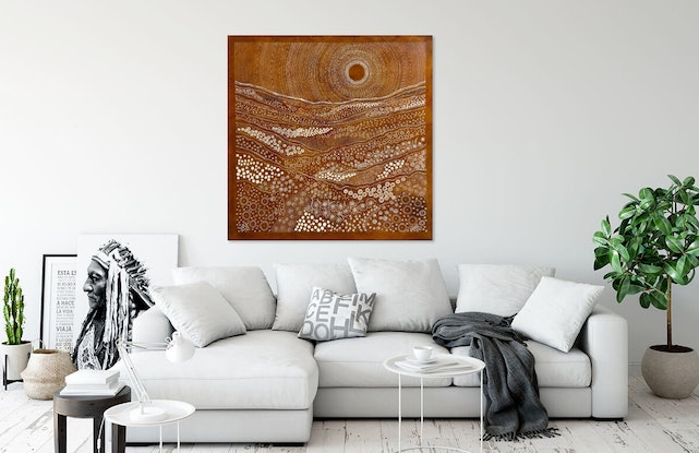 (CreativeWork) Desert Breeze by Grace Brown. Mixed Media. Shop online at Bluethumb.