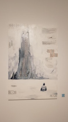 (CreativeWork) The Tower by Ben Tankard. Mixed Media. Shop online at Bluethumb.