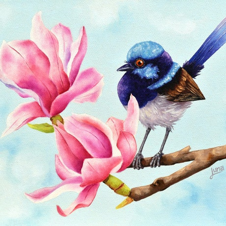 (CreativeWork) Quietly Perched by Luna Vermeulen. Oil Paint. Shop online at Bluethumb.