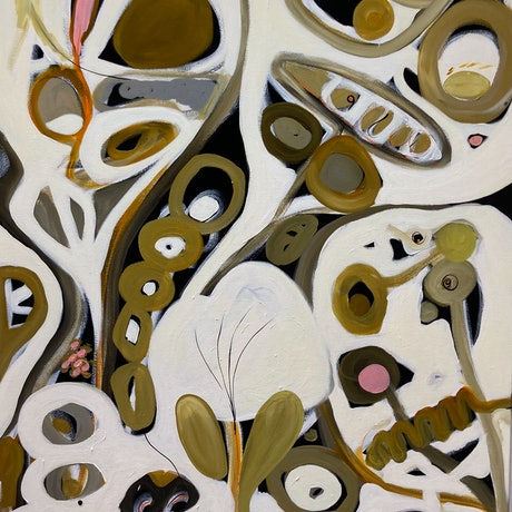 (CreativeWork) Seeds of Life by Sarah Morrow. Acrylic Paint. Shop online at Bluethumb.