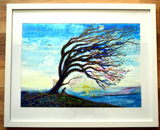 (CreativeWork) Contemplation by Linda Callaghan. Watercolour Paint. Shop online at Bluethumb.