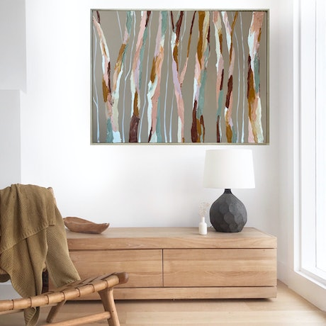 (CreativeWork) Cooma by Marnie McKnight. Acrylic Paint. Shop online at Bluethumb.