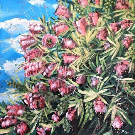 (CreativeWork) Our Adventure Begins - Callistemon (Bottle Brush Flowers )- LIMITED EDITION GICLEE PRINT on paper Ed. 2 of 100 by HSIN LIN. Print. Shop online at Bluethumb.