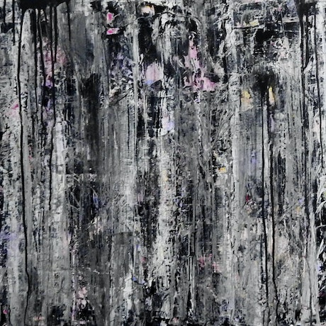 (CreativeWork) The Tangled Grey Forest by julie hollis. Acrylic Paint. Shop online at Bluethumb.