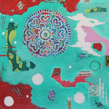 (CreativeWork) Bohemian Frenzy by Leanne Dunne. Mixed Media. Shop online at Bluethumb.