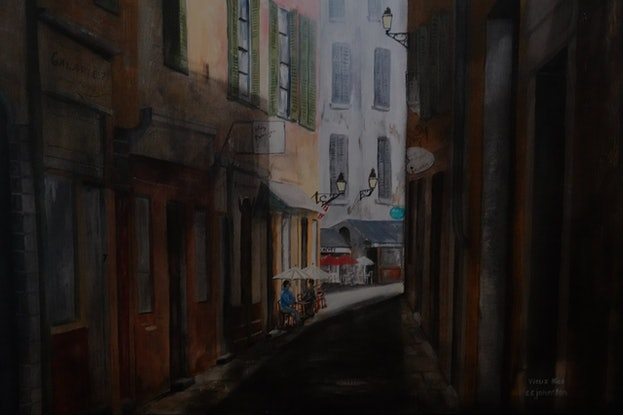 (CreativeWork) Vieux Nice by Christopher Johnston. Acrylic Paint. Shop online at Bluethumb.