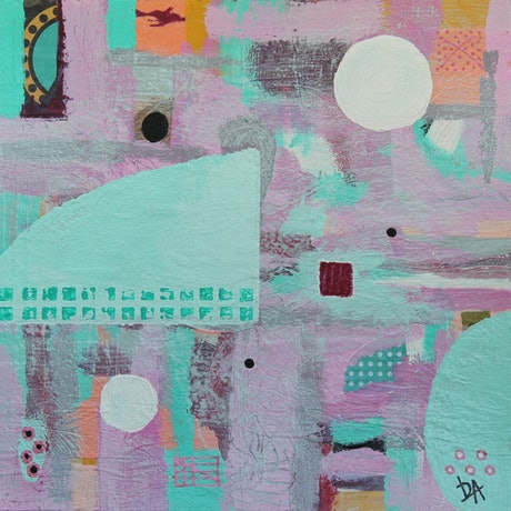 (CreativeWork) Happy Day by Leanne Dunne. Acrylic Paint. Shop online at Bluethumb.