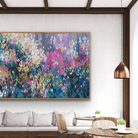 (CreativeWork) Wildflower - 135cm x 90cm  Ed. 1 of 100 by Belinda Nadwie. Print. Shop online at Bluethumb.