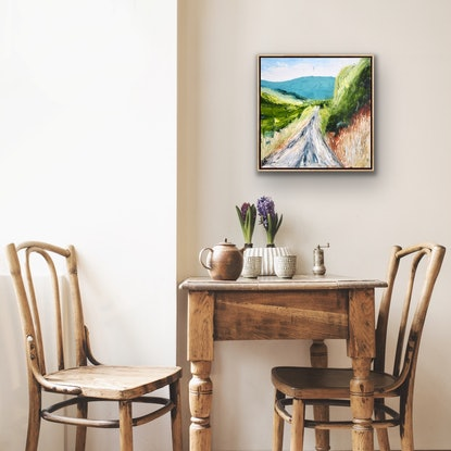 (CreativeWork) Touring by Michelle Keighley. Oil Paint. Shop online at Bluethumb.