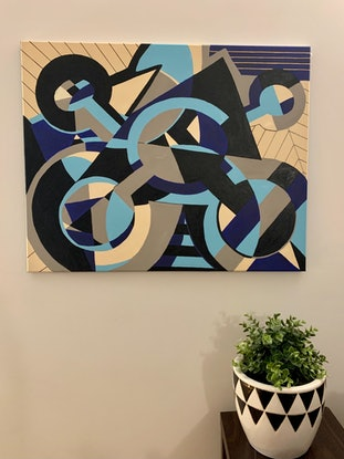 (CreativeWork) The Price of Air  by Ginsten _. Acrylic Paint. Shop online at Bluethumb.