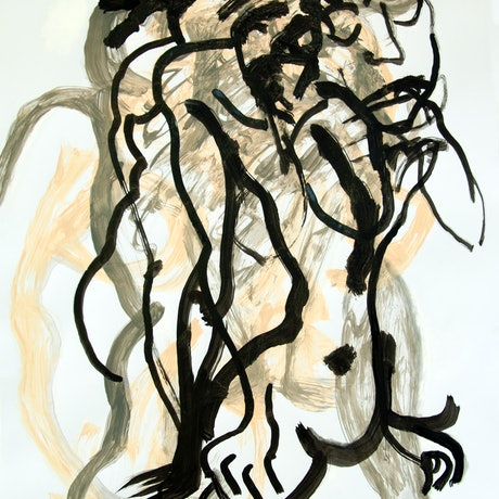 (CreativeWork) Ink Brush Drawing 1 by Josephine Window. Drawings. Shop online at Bluethumb.