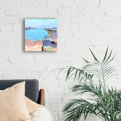 (CreativeWork) Holiday by Sally Fisher. Acrylic Paint. Shop online at Bluethumb.