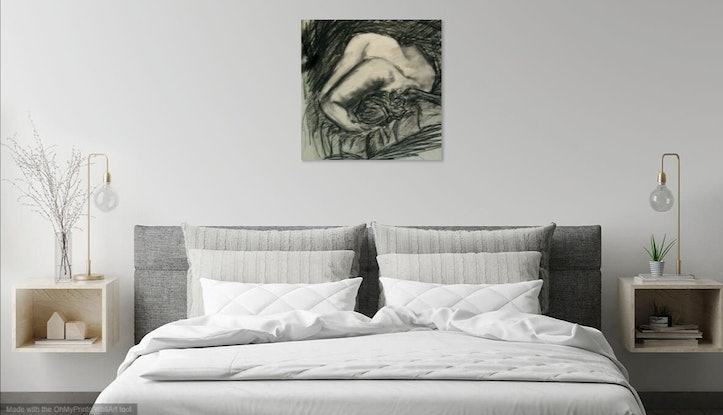 (CreativeWork) Enigma by Olga Megele. Drawings. Shop online at Bluethumb.