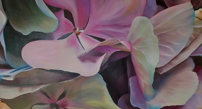 (CreativeWork) RHAPSODY AT MIDNIGHT by Lynette Brown. Acrylic Paint. Shop online at Bluethumb.