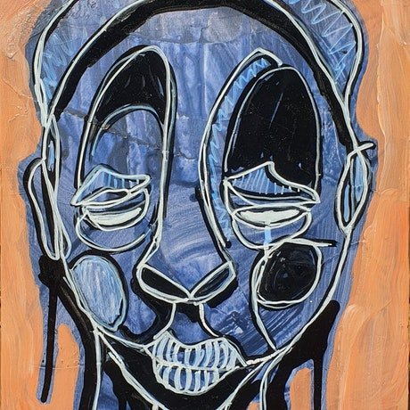 (CreativeWork) The Little Thoughts. No.5 by Sam Patterson-Smith. Acrylic Paint. Shop online at Bluethumb.