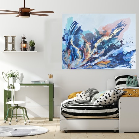 (CreativeWork) Fire and Ice by Michelle Drougas. Mixed Media. Shop online at Bluethumb.