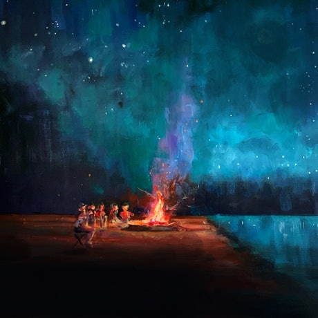 (CreativeWork) One More Night by Sara Roberts. Oil Paint. Shop online at Bluethumb.