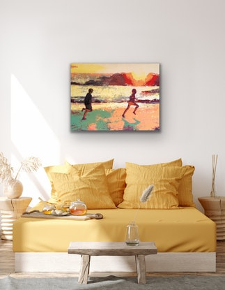 (CreativeWork) so sweet - as plashing in the pools by Kerry Inkster. Acrylic Paint. Shop online at Bluethumb.