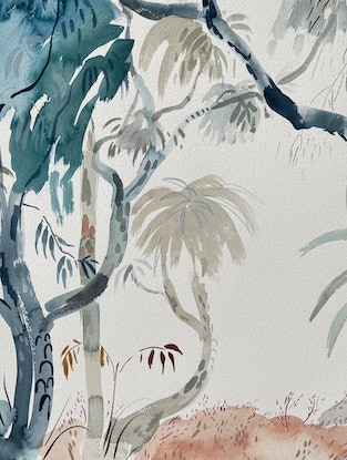 (CreativeWork) Notes from a Bushwalk 2 by Sally Browne. Watercolour Paint. Shop online at Bluethumb.