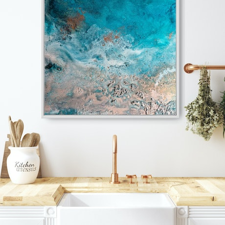 (CreativeWork) Ebb and Flow I by Emiley Rose. Acrylic Paint. Shop online at Bluethumb.
