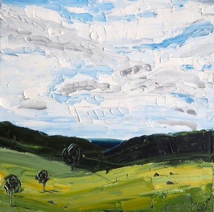(CreativeWork) Here & Now by Michelle Keighley. Oil Paint. Shop online at Bluethumb.