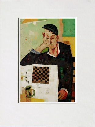 (CreativeWork) Chess Player Ed. 5 of 5 by Tetyana Khytko. Print. Shop online at Bluethumb.