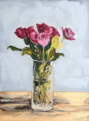(CreativeWork) My Everything  by Angela Hawkey. Oil Paint. Shop online at Bluethumb.